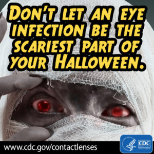 Dangers of decorative contacts