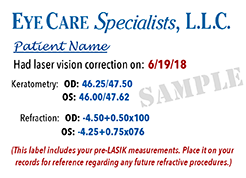 Cataract surgery after LASIK